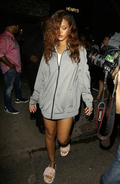 Rihanna street style fashion outfit candid 2016 badgalriri puma fenty