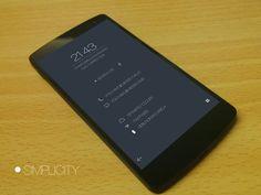SIMPLICITY Android Homescreen by peterpan79 - MyColorscreen