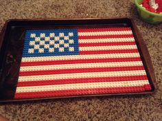 The American flag made out of LEGOs