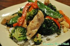 ~Chicken and Vegetable Stir Fry~ Filled with superb Asian flavor, this simple meal tastes great and is super simple.