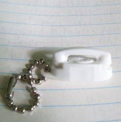 Dollhouse Miniature White Princess Phone