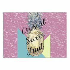 KESS InHouse Victoria Krupp 'Crystal Sweet Fruit' Purple Yellow Dog Place Mat, 13' x 18' -- Hurry! Check out this great product : Dog food container