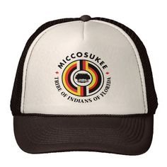 Miccosukee İndians Tribe Trucker Hat Native American Tribes seal Flag indian