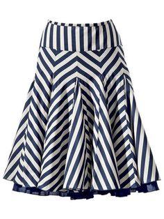 юбка клиньями в полоску