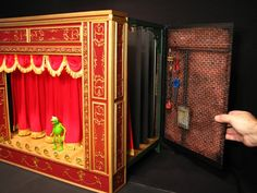 """scratch built Muppet Theatre Miniature Playset. Its is done 1/12th scale or 1""""scale (doll house scale"""