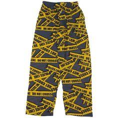 Fun Boxers People Say Police Line Pajama Pants for Men