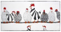Hühner auf der Stange