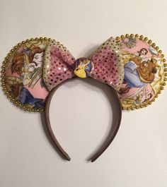 Beauty and the Beast inspired mickey ears by TheFunRunner on Etsy