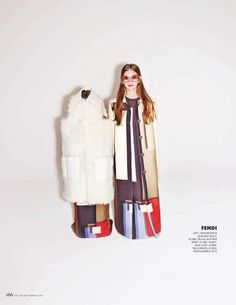 Total Fendi FW15 outfits featured in Tatler UK.
