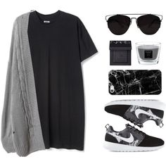 My favorite cardigan by felytery on Polyvore featuring NIKE, Casetify, Retrò, NARS Cosmetics, Baobab Collection and mycardi