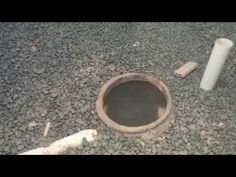 """Drenagem correta de terreno com manta geotêxtil, tubulação de 4"""", pedra brita nº 2 (1"""") - YouTube"""