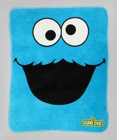 Sesame Street Cookie Monster Plush Throw fd86f1226e41