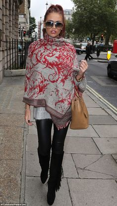 Surprised? Amy Childs steps out of clinic after getting a permanent eyebrow make-up treatment done