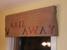 Sail Away Anchor Valance / 16L x 39W by CraftyAmour on Etsy, $25.00