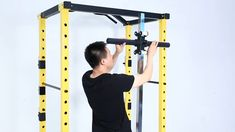 HulkFit Capacity Multi-Function Adjustable Power Cage with J-Hooks, Dip Bars and Other Optional Attachments Home Gym Basement, Home Gym Garage, Gym Room At Home, Homemade Gym Equipment, Diy Gym Equipment, Home Made Gym, Diy Home Gym, Gym Rack, Dream Home Gym