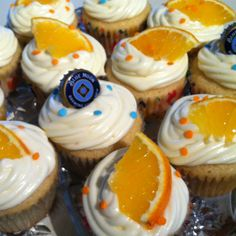 Blue Moon cupcakes for super bowl party