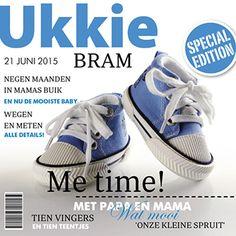 Special edition van ukkie magazine! Een origineel geboortekaartje met een magazine look. 21 Juni, Me Time, Adidas Sneakers, Baby Shoes, Om, Babies, Cover, Adidas Shoes, Babys