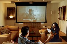 Short on space but big on digital entertainment? Check out how these eight spaces creatively incorporated a projector in their home.