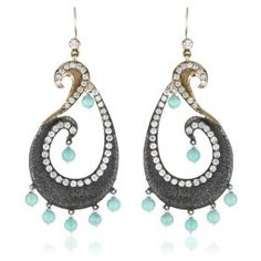 BORA Sterling Silver and Turquoise Dangle Earrings $260