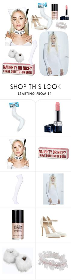 """""""Nice kitty! ⚫♡⚫✔"""" by acidsugar ❤ liked on Polyvore featuring Christian Dior, Forplay, Primitives By Kathy, Stila, Gianvito Rossi, Boohoo and Agent Provocateur"""