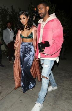 Rapper Big Sean and his girlfriend Jhene Aiko arrive at Delilah nightclub. Picture: Photographer Group/ Splash News