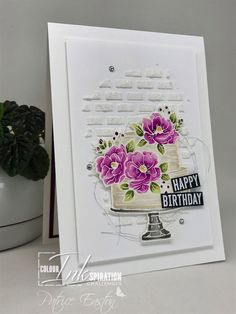 Stampin' Up! happy birthday to you, SAB 2020 Birthday Cake Card, Homemade Birthday Cards, Birthday Card Design, Happy Birthday Cakes, Birthday Bash, Birthday Wishes, Birthday Parties, Stamping Up Cards, Anniversary Cards