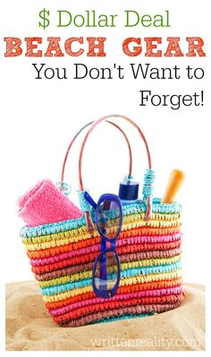 Best Beach Items for Family Fun 5 beach essentials you may not know about– quick solutions for your next day at the beach and ALL can be found at your local dollar store! Florida Vacation, Florida Travel, Vacation Trips, Vacation Travel, Beach Travel, Beach Gear, Beach Trip, Beach Vacations, Beach Resorts