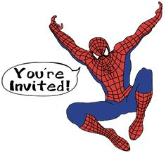 Spiderman party invitation wording Spiderman and Jesse Want YOU! to help fight the villains and save Jesse's birthday cake from destruction Report to Spidey Headquarters at on Saturday, July for fun, games and ice cream It will be off the wall! Spiderman Birthday Invitations, Superhero Invitations, Superhero Birthday Party, It's Your Birthday, Birthday Party Invitations, Birthday Cake, Spider Man Party, Spiderman Pictures, Make Your Own Invitations