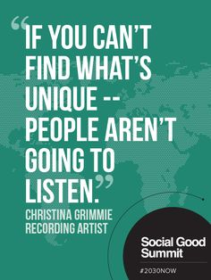 Christina Grimmie / Quotes from the 2013 Social Good Summit #2030NOW