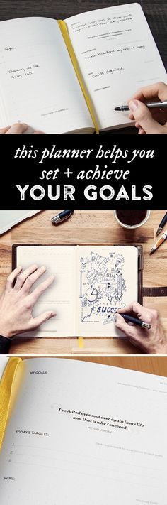 Turn lofty goals into smaller, daily action items—and see what you can achieve. This keepsake-quality journal helps you make it happen. Notes Taking, Happy Planner, Budget Planner, Planner Ideas, How To Get, How To Plan, Smash Book, Getting Organized, Self Improvement