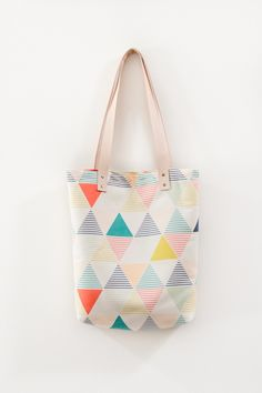 LEMONNI Geometric Tote Bag