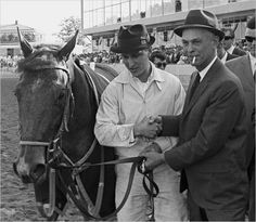 Tom Rolfe with trainer Frank Whiteley