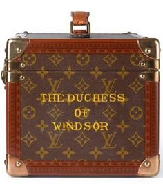 The Duchess of Windsor's luggage. Nothing classier than a small discreet monogram ;+}