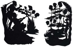 """Kara Walker, ''Untitled"""" (Hunting Scene) Cut paper and adhesive on wall, Left panel: 98 x 68 inches, Right panel: 103 x 63 inches Kara Walker, African American Artist, American Artists, African Art, Kathe Kollwitz, Kehinde Wiley, Artistic Installation, Social Art, Political Art"""