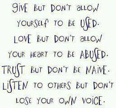 Give..Love..Trust..Listen..