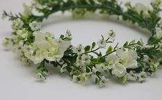 Cream stock flower crown for weddings Bridal Bridesmaid or Stock Flower, Gypsophila, Flower Crowns, White Bridal, Floral Crown, Hair Pieces, Flower Decorations, Hair Accessories, Bridesmaid