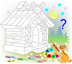 Вектори, подібні до 138204256 Educational page with exercises for children on addition and subtraction. Need to solve examples and to paint the image in relevant colors. Developing skills for counting. Math For Kids, Activities For Kids, Kids Math Worksheets, Illustration, Teaching French, Exercise For Kids, Cartoon Images, Kids Rugs, Education
