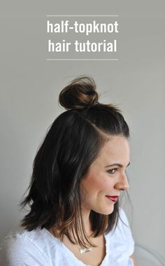 Looking for new ways to do your hair? This easy half-topknot tutorial will add a finishing touch to just about any outfit.