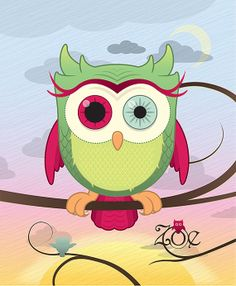 Personalized Owl Print with your child's name. #owl #cute #musthave