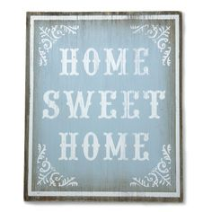 Blue Vintage Wooden Sign from Laura Ashley