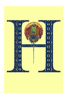 H Horseshoe Crab Alphabet Print by NicoleKristiana on Etsy, $28.00
