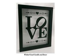 Shadow Box Wine Cork Holder 8x10  Love with by WickedGoodDecor, $24.99