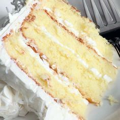 Healthy and Savory white cake recipe with heavy cream & healthy options.