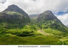 stock photo : Mountain view in Scotland in the Glencoe