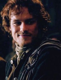 .look how cute he is, looking at her with such  marvelous eyes,  with so much admiration, love them ... outlander