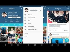 Concept - This is what Instagram for Android would look like with Google's MaterialDesign