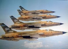 "british-eevee: ""F-105 Thunderchief jets in formation """