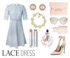 """""""Lace dresses is love"""" by fashion-freaks ❤ liked on Polyvore featuring moda, Valentino, Givenchy, Prada, Tom Ford, Chanel, Christian Dior, Essie, lace e pastels"""