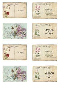 Lots of free images beautiful Papel Vintage, Vintage Tags, Vintage Labels, Vintage Paper, Vintage Postcards, Post Cards Vintage, Scrapbook Journal, Journal Cards, Junk Journal