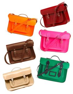 I have been OBSESSED with satchels lately!! Cambridge Leather Satchels